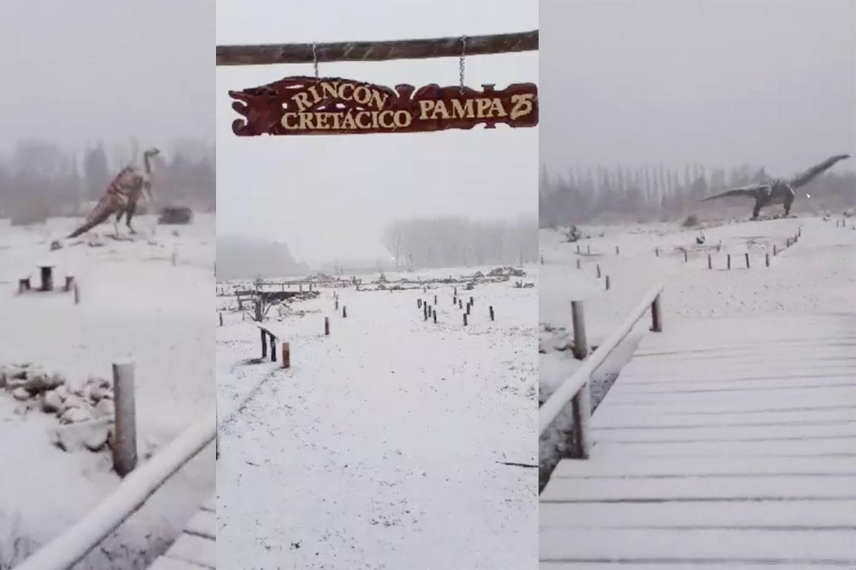 Llega la nieve a 25 de Mayo y brinda un hermoso espectáculo que te lo mostramos en 9 fotos