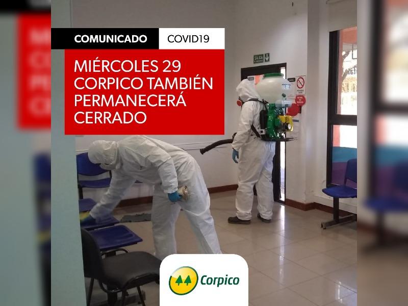 Corpico continuará sin atender mañana al público tras tareas de desinfección por una trabajadora que fue hisopada por coronavirus