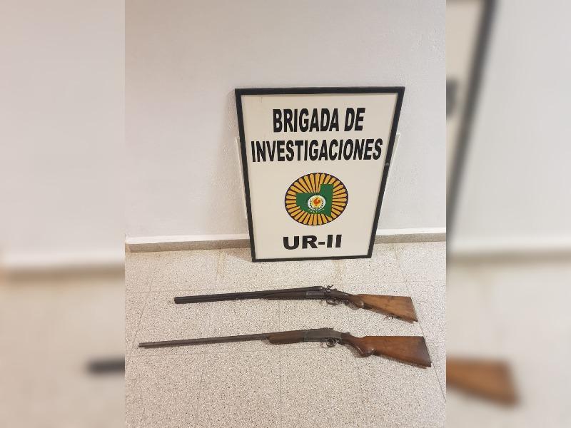 Incautan dos escopetas sin la documentación reglamentaria y que habían sido utilizadas para una transacción comercial