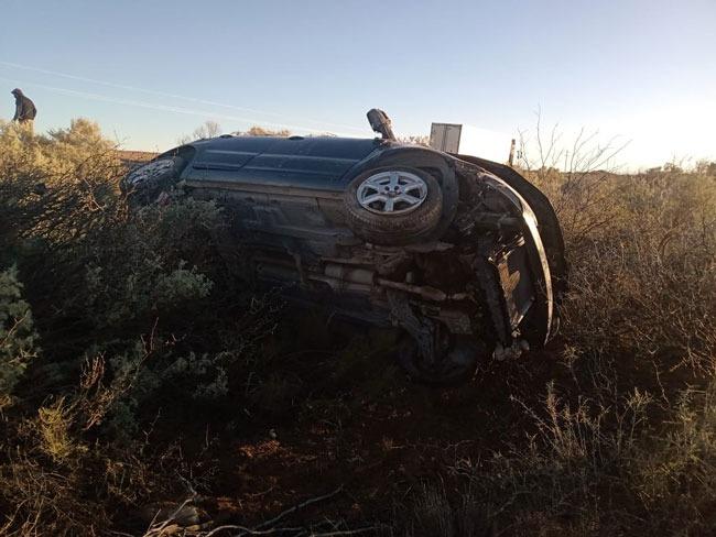Volcó un auto en cercanía de Puelén