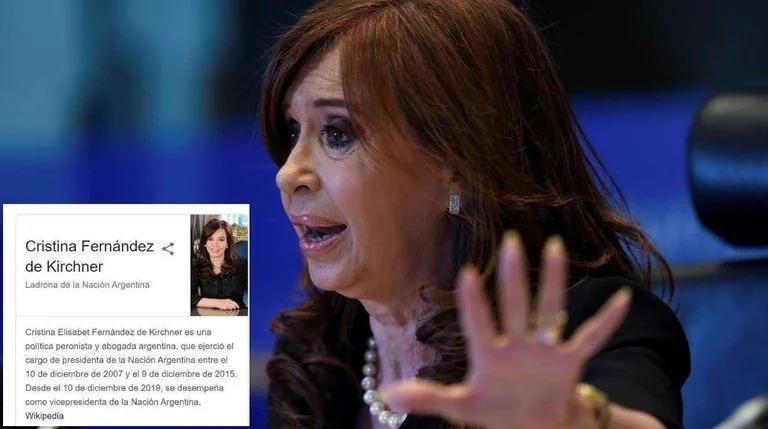 "Cristina Kirchner denunció a Google porque figuraba en su buscador como  ""ladrona de la Nación Argentina"" – infopico.com"