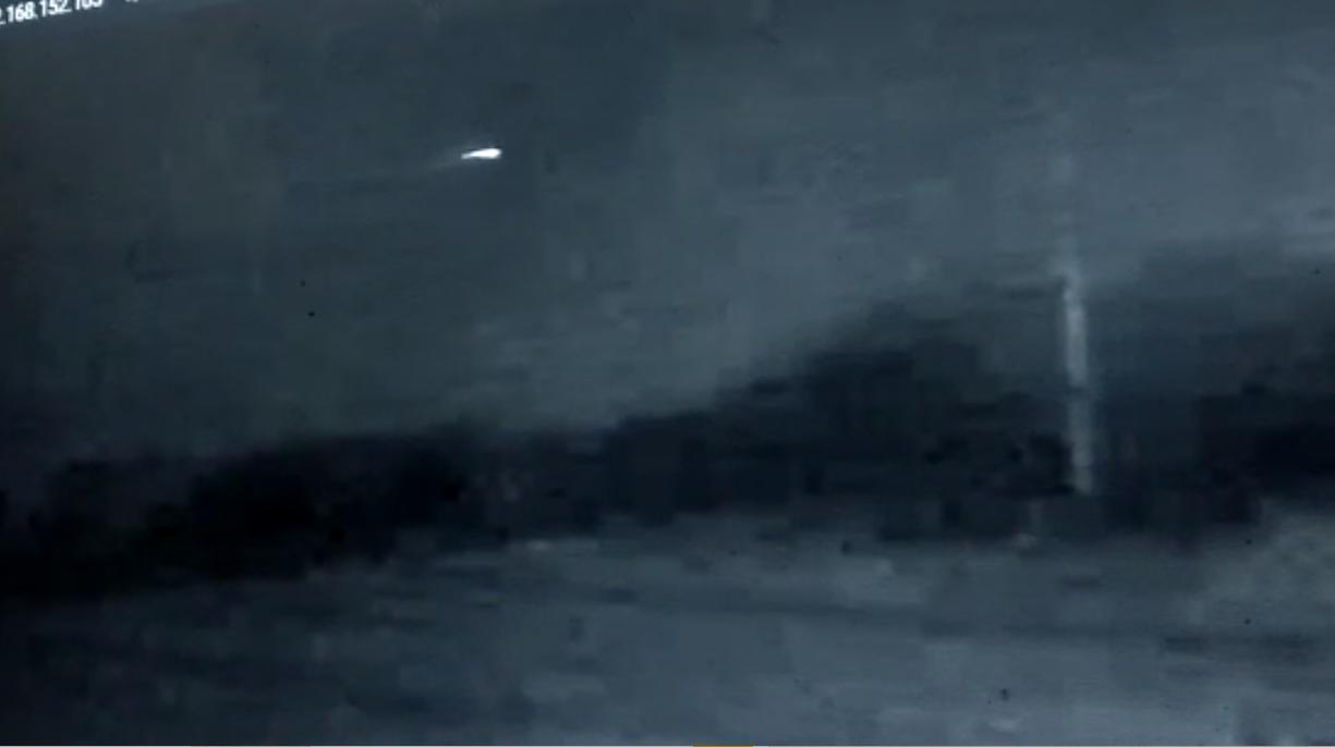 Un extraño objeto surcó los cielos de La Pampa y quedó registrado por cámaras de seguridad