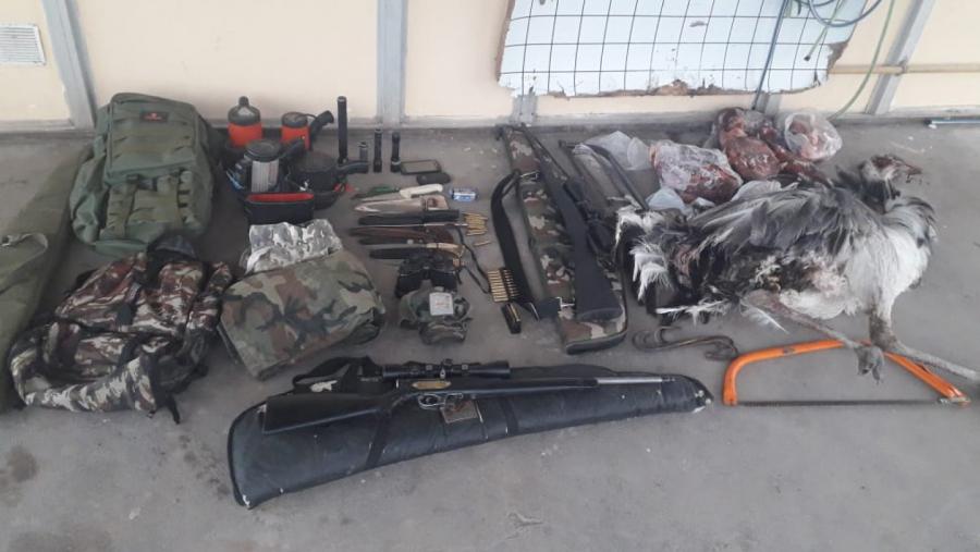 Allanaron un campo en Quehué y detuvieron a dos cazadores furtivos