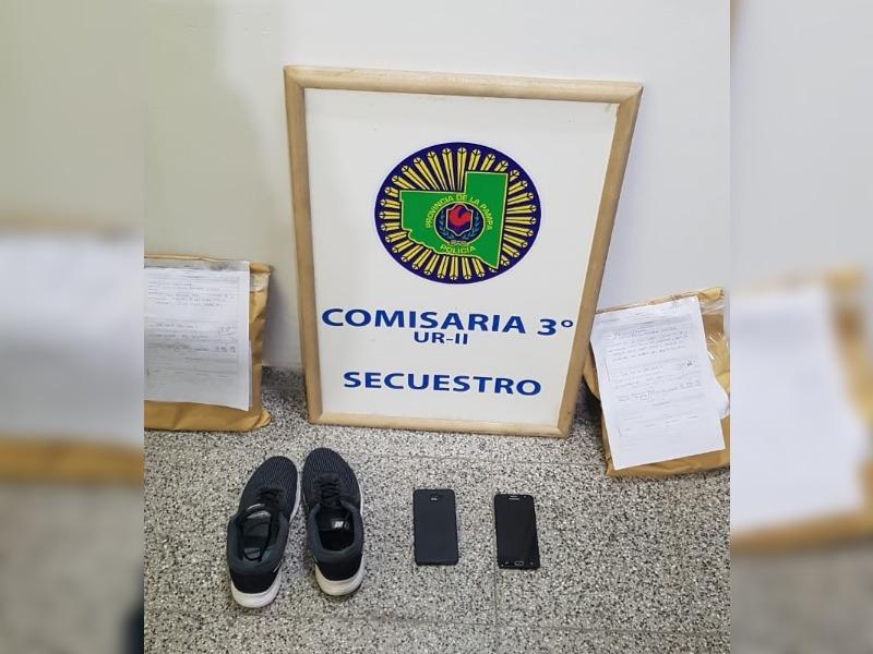 Comisaría Tercera atrapó a un menor de edad de 14 años que ingresó a una vivienda para robar celulares y zapatillas