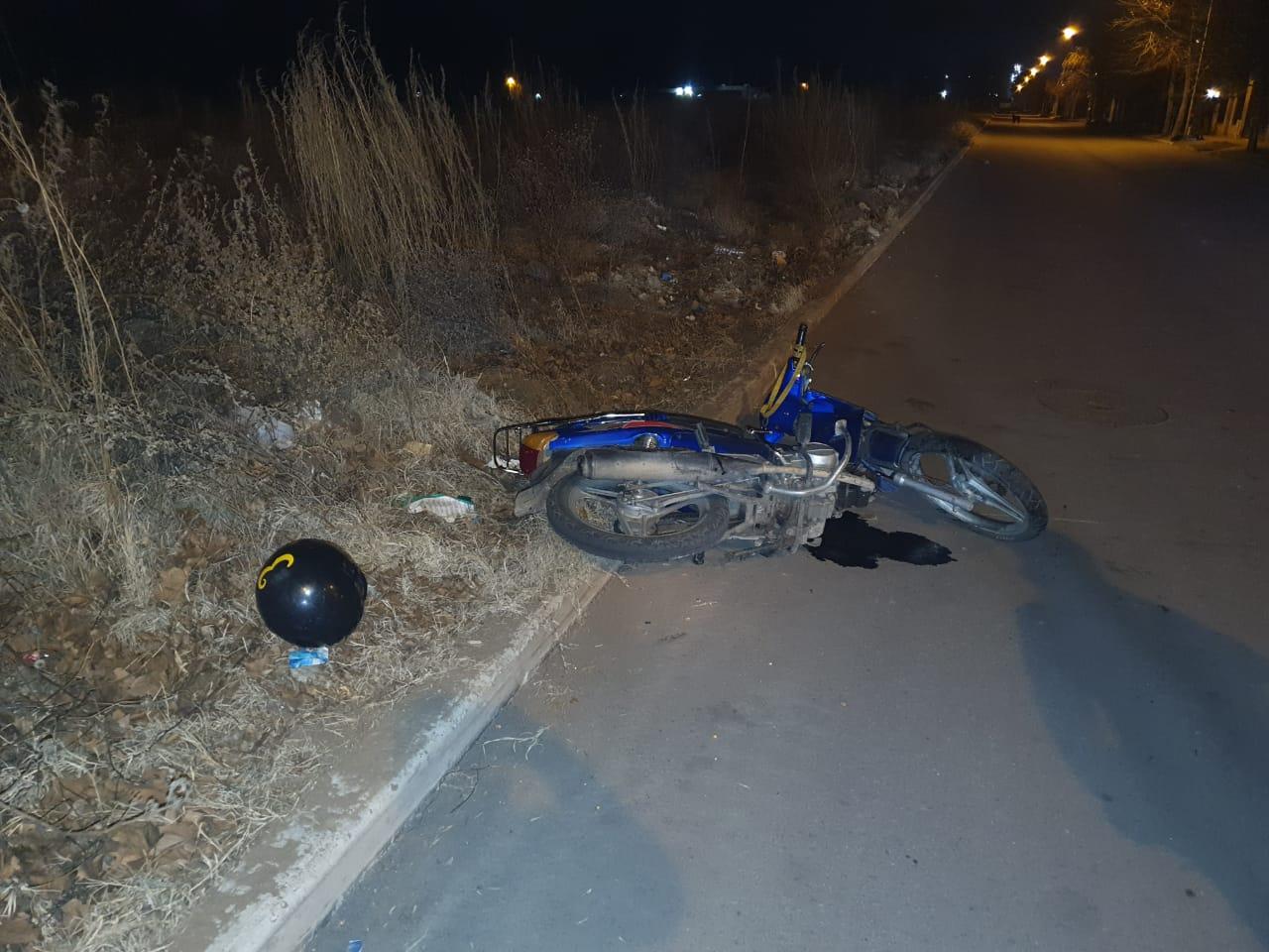 Un joven de 20 años sufrió un accidente en horas de la madrugada
