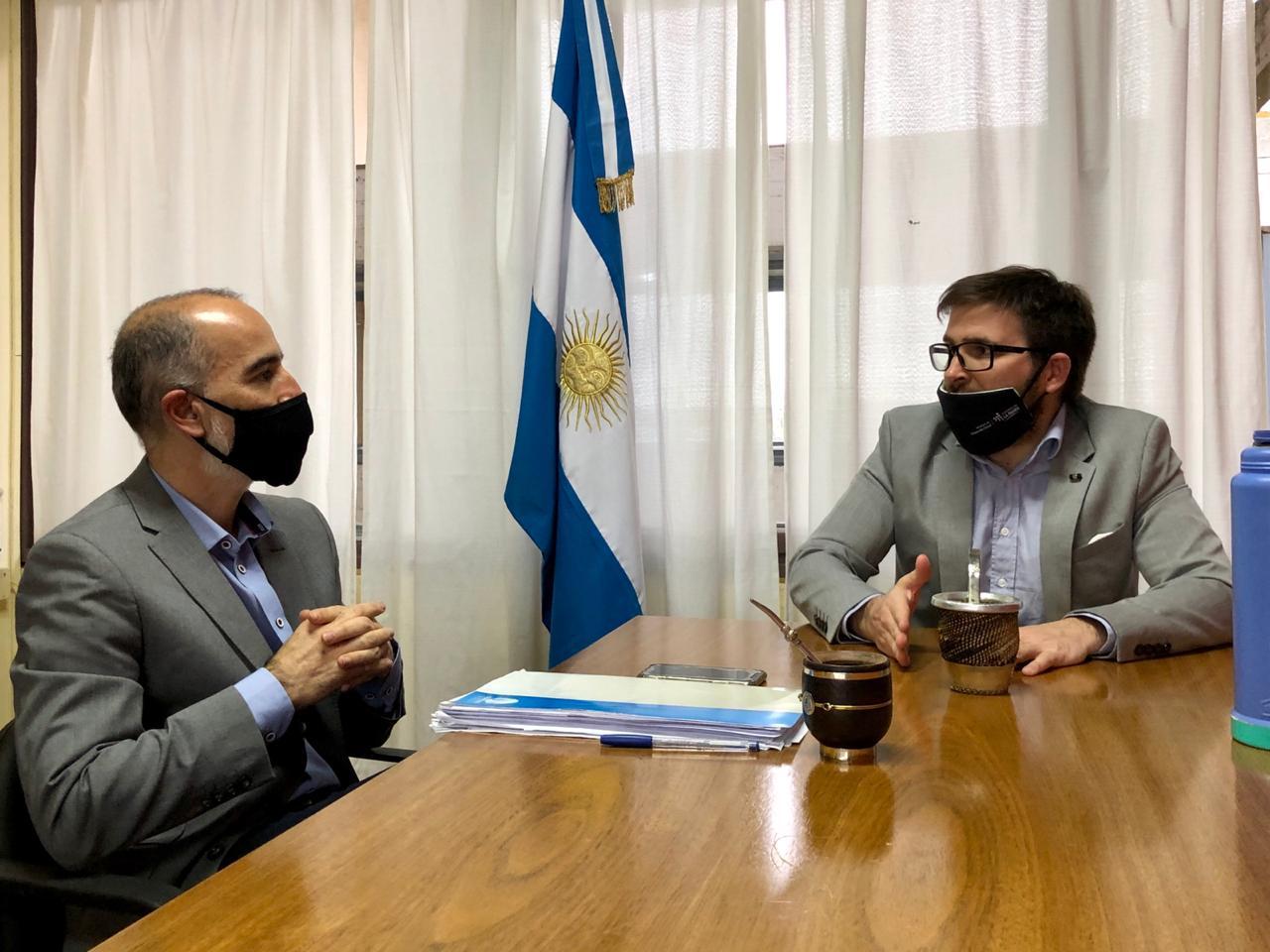 López visitó a Curciarello por modernización estatal y legislación de los servicios de internet