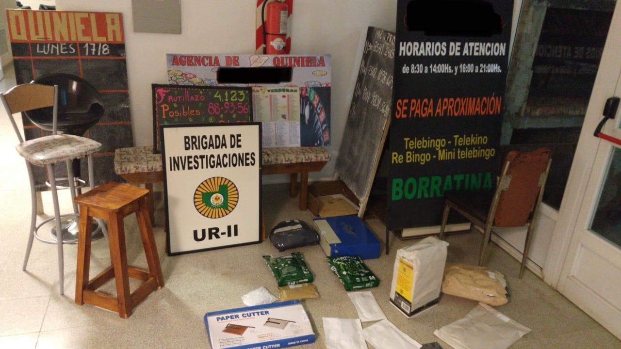 """La Brigada de Investigaciones realizó allanamientos por """"juego ilegal"""" en General Pico: Secuestraron $ 124.000 y distintos elementos"""