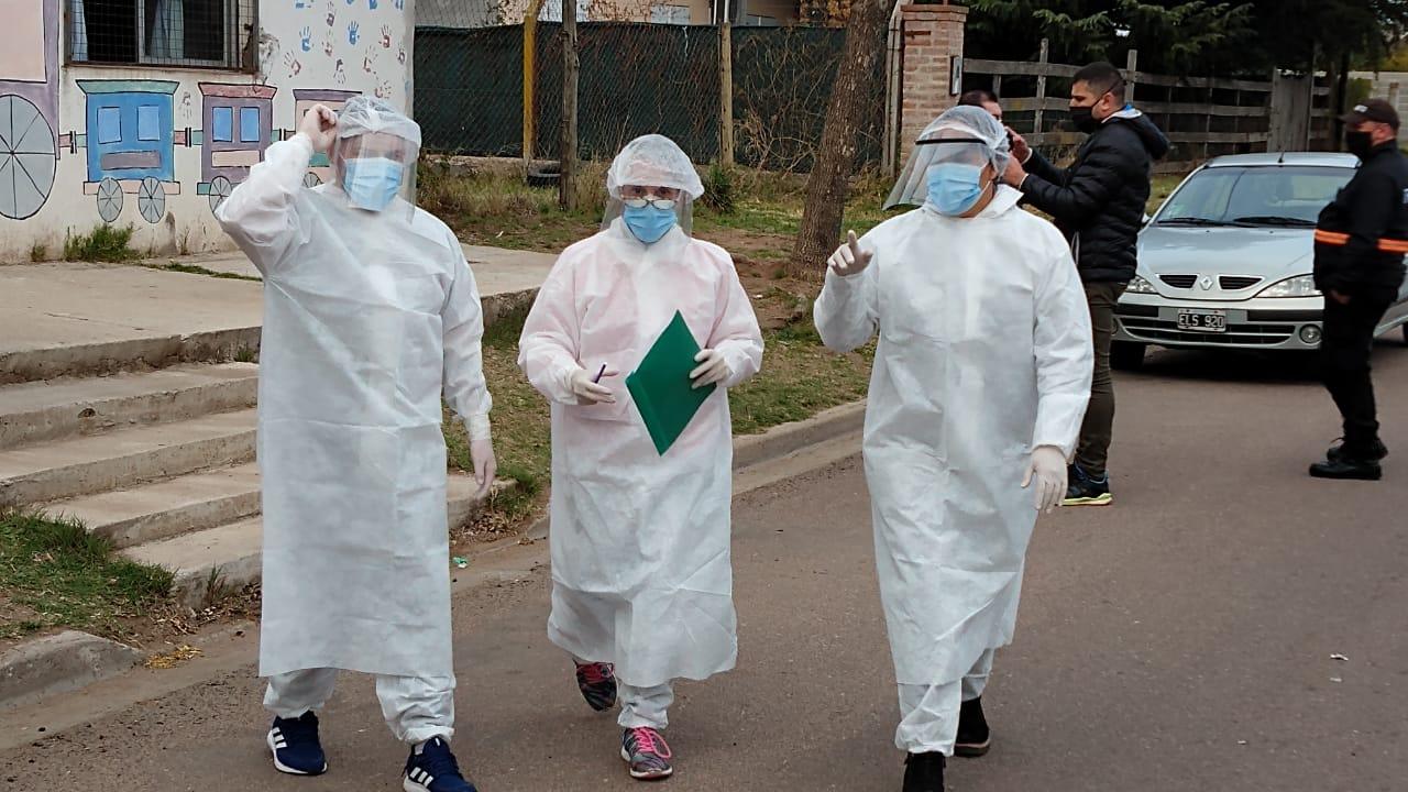 """""""Búsqueda Activa"""" en General Pico: se monitoreo  a 1623 personas de las cuales 15 fueron hisopadas"""