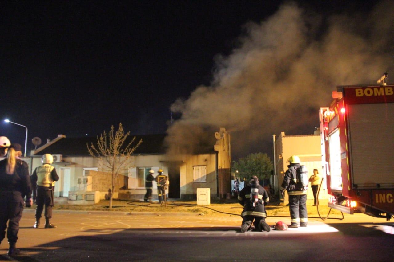 Incendio de vivienda en barrio Federal