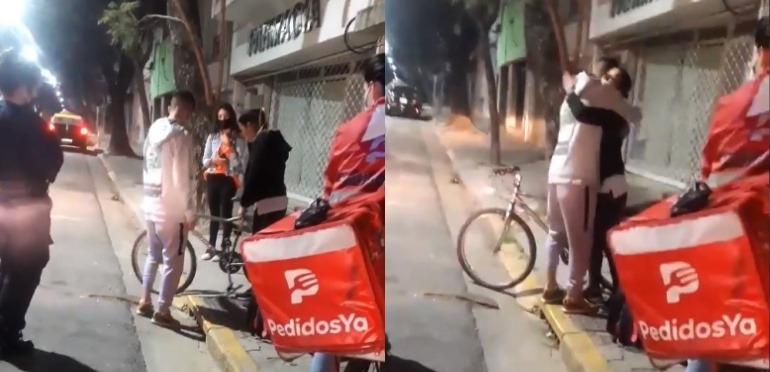 Rosario: ¡Gran gesto solidario! Le robaron la bicicleta a un delivery y la que recibió el pedido le regaló la suya