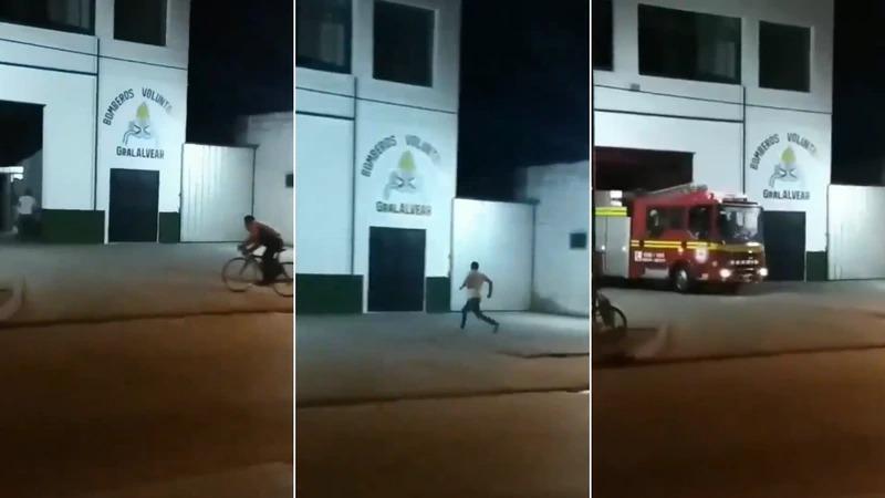 Buenos Aires: emotivo video de cómo llegan los bomberos voluntarios ante la alarma de incendio