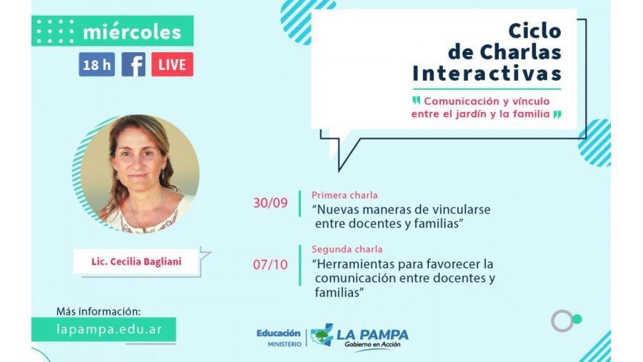 """Ciclos de charlas interactivas denominado """"Comunicación y vínculo entre el jardín y la familia"""""""