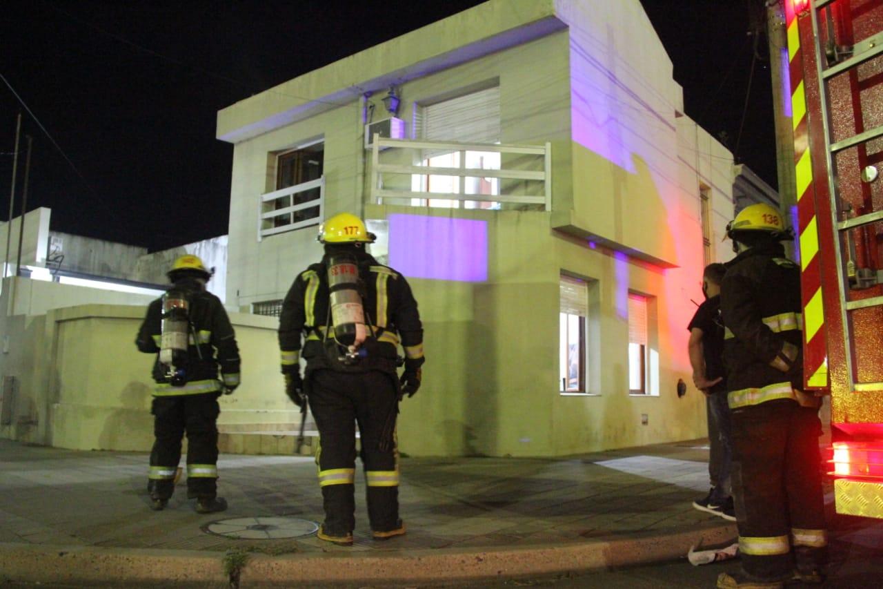 Principio de incendio en una vivienda fue rápidamente sofocado