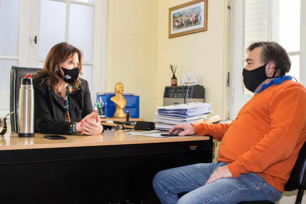 """Fernanda Alonso se reunió con el  vicepresidente del Banco de La Pampa: """"Hemos sacado líneas de apoyo de todo tipo"""" aseguró Giorgi"""