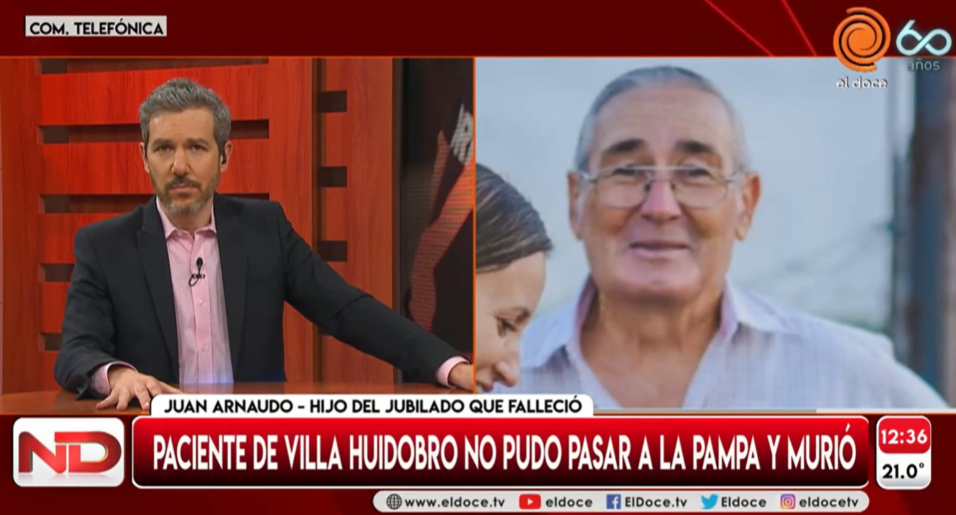 """Habló el hijo del jubilado de Villa Huidobro que murió luego de que le impidieran ingresar a La Pampa: """"Podrían haber hecho algo más, siento impotencia"""""""