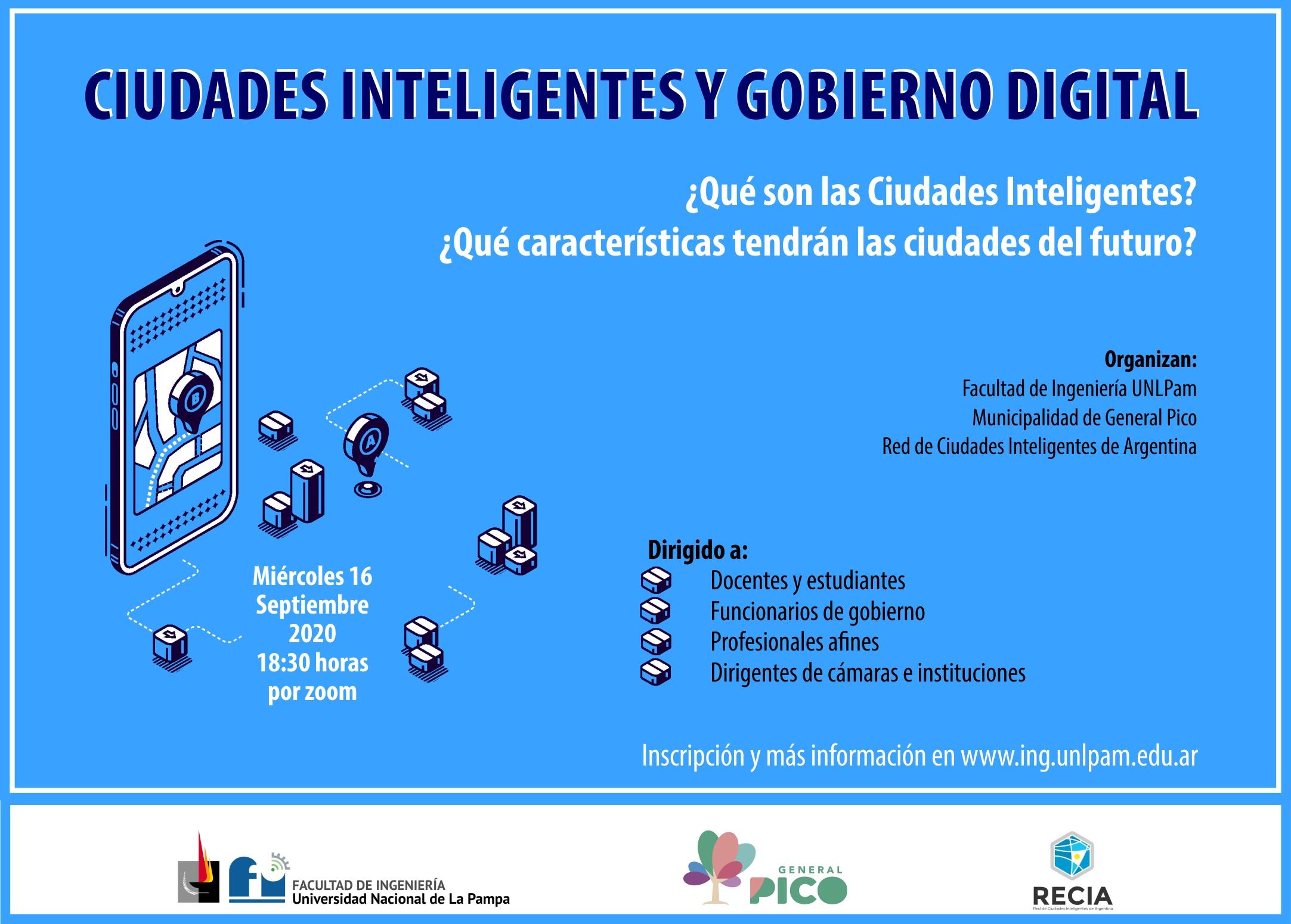General Pico: hoy se realizará un webinar sobre Ciudades Inteligentes y Gobierno Digital