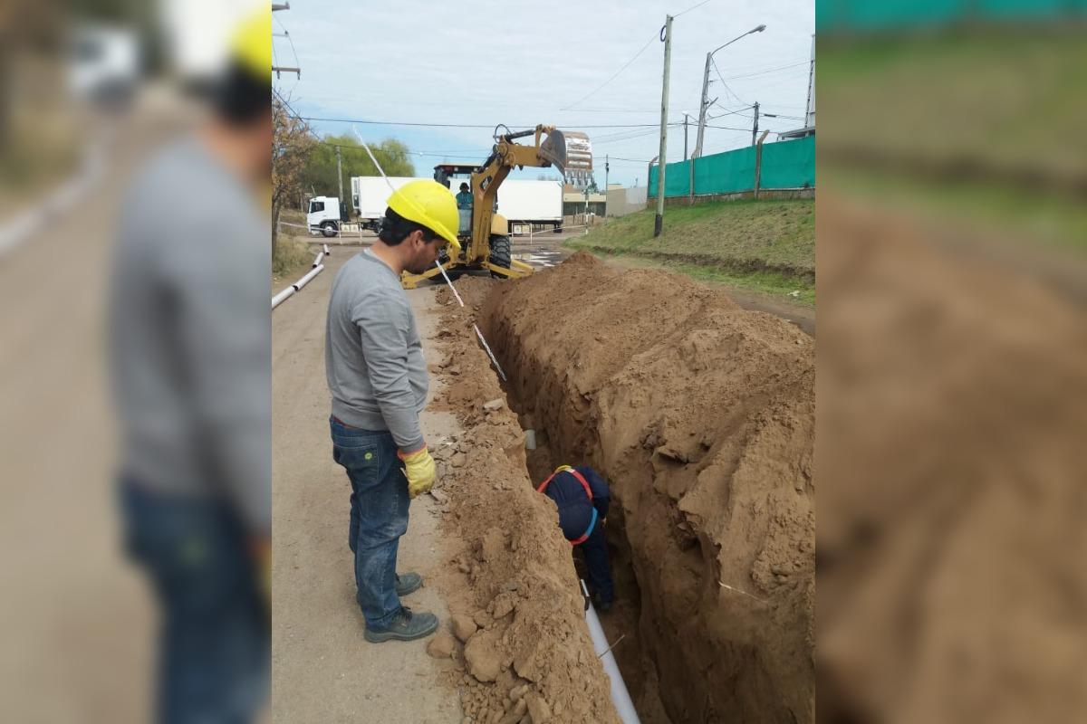 Concluyen las tareas de ampliación de desagües cloacales en General Pico y los vecinos ya pueden empezar a conectarse
