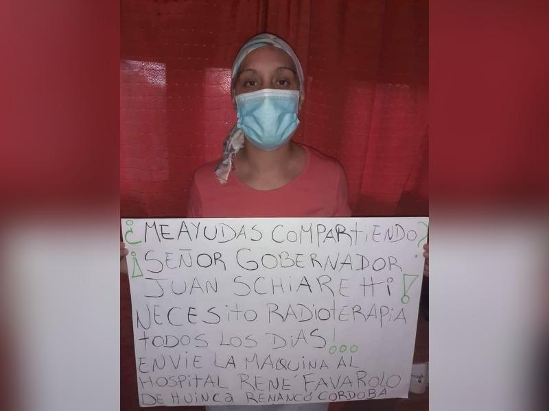 Huinca Renancó: Joven mujer padece de cáncer y le pide al Gobernador de Córdoba por una máquina de rayos para el Hospital