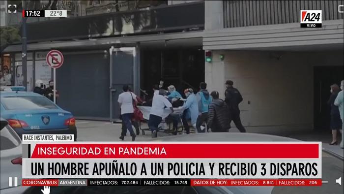 Conmoción en Palermo: Un hombre apuñaló y mató a un Policía