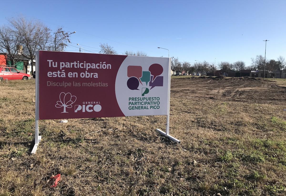 Continúa el avance de las obras del presupuesto participativo en General Pico