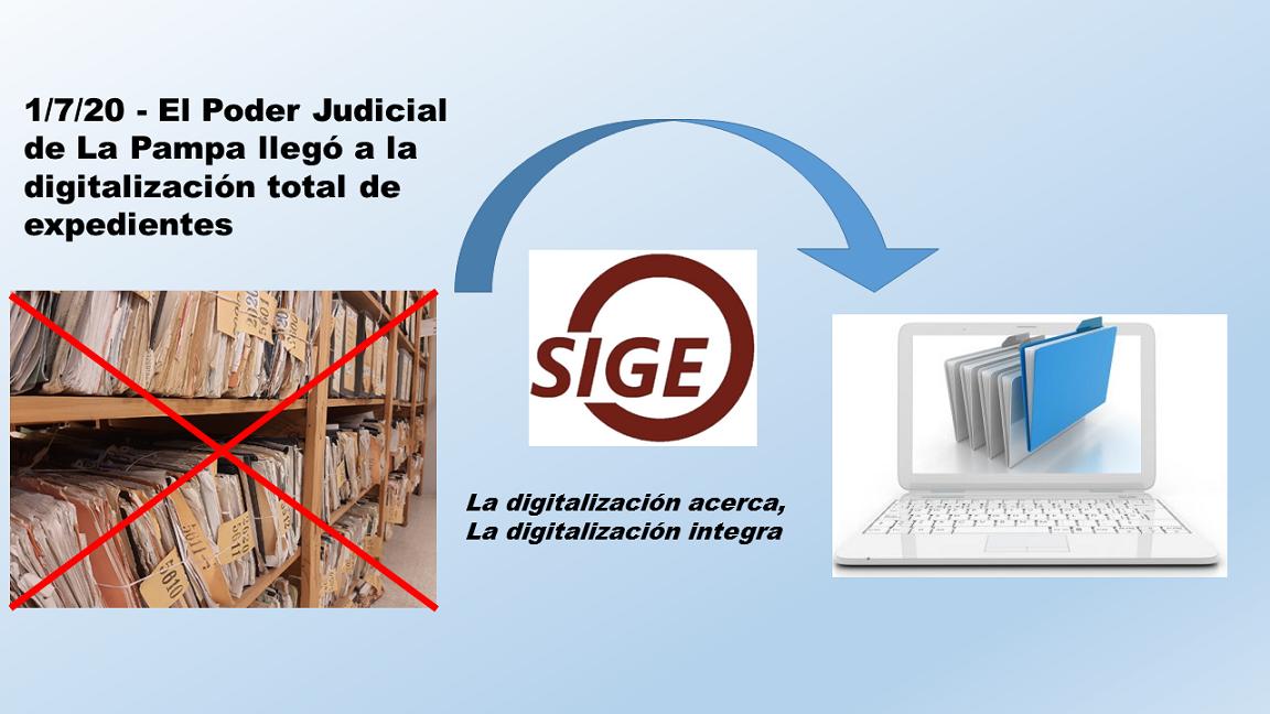 La Pampa: tras la digitalización de los expedientes de los fueros no penales, se registraron 4865 expedientes en 8 meses