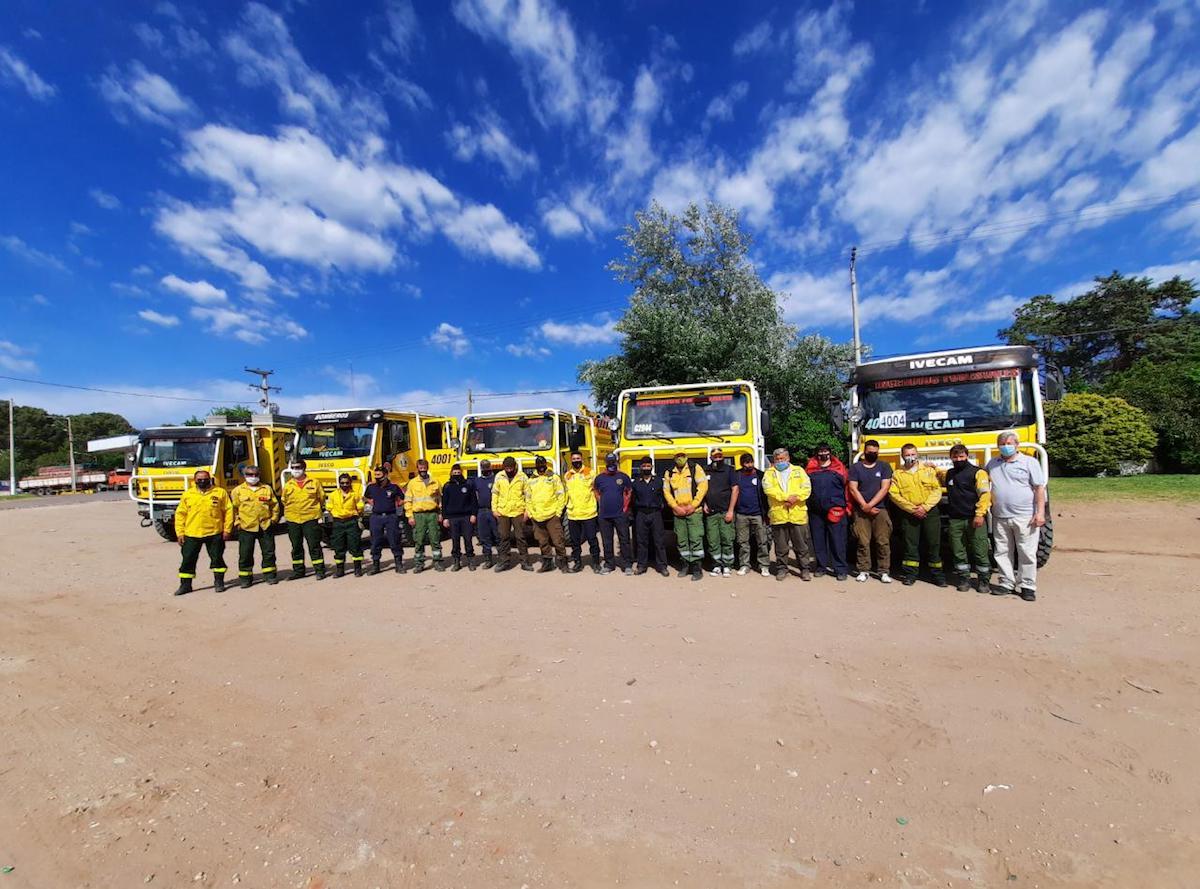 ALERTA ROJA: Bomberos y brigadistas de La Pampa viajan mañana a trabajar en los incendios de Córdoba