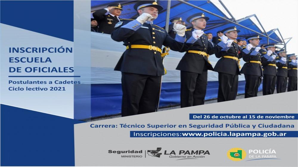 El 26 de octubre abre la Inscripción a la Escuela de Oficiales de la Policía de La Pampa, mirá los requisitos