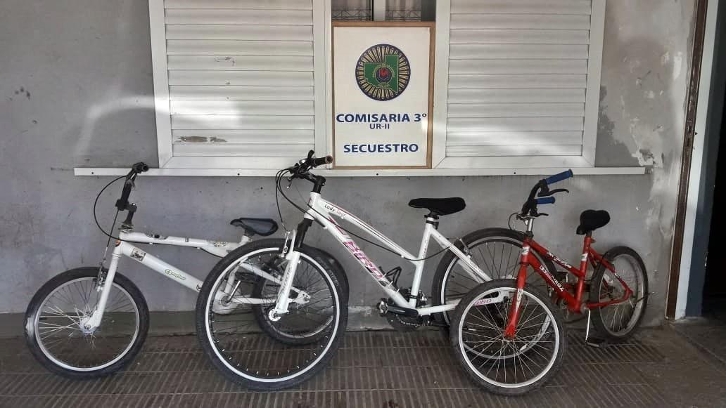 Situación que preocupa: Tres chicos entre 10 y 12 años robaron tres bicicletas