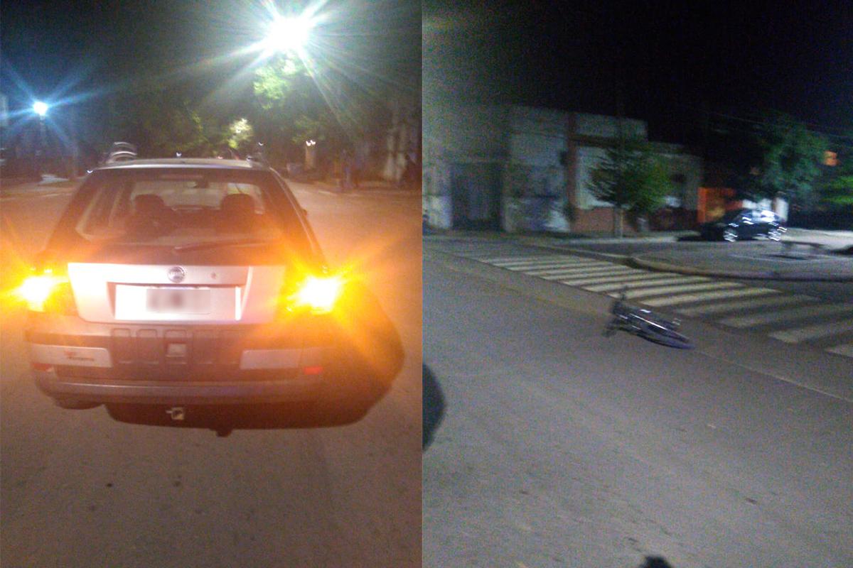 Un menor en bicicleta fue embestido por un auto en Avenida San Martín y calle 3