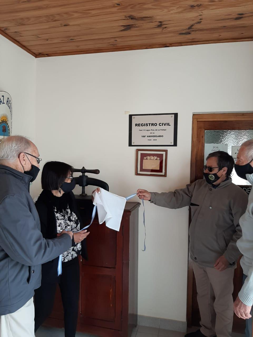 El Registro Civil de Hilario Lagos mediante un acto conmemoró sus 100 años