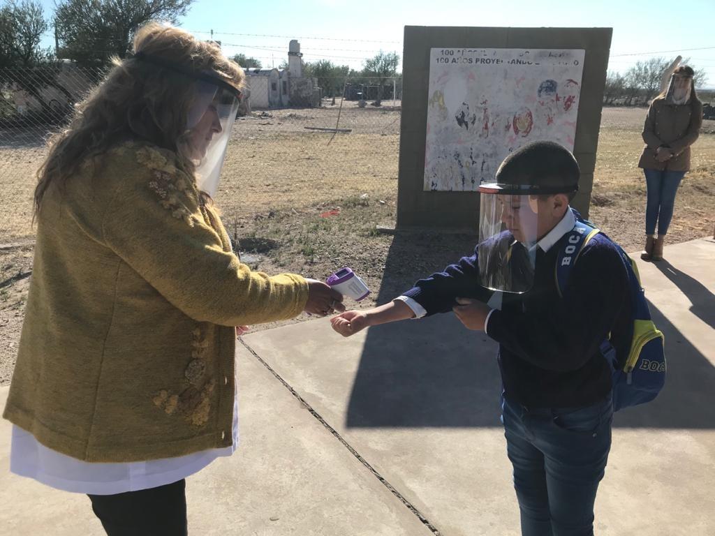 Luego de casi siete meses, San Luis volvió hoy a las clases presenciales en los parajes rurales