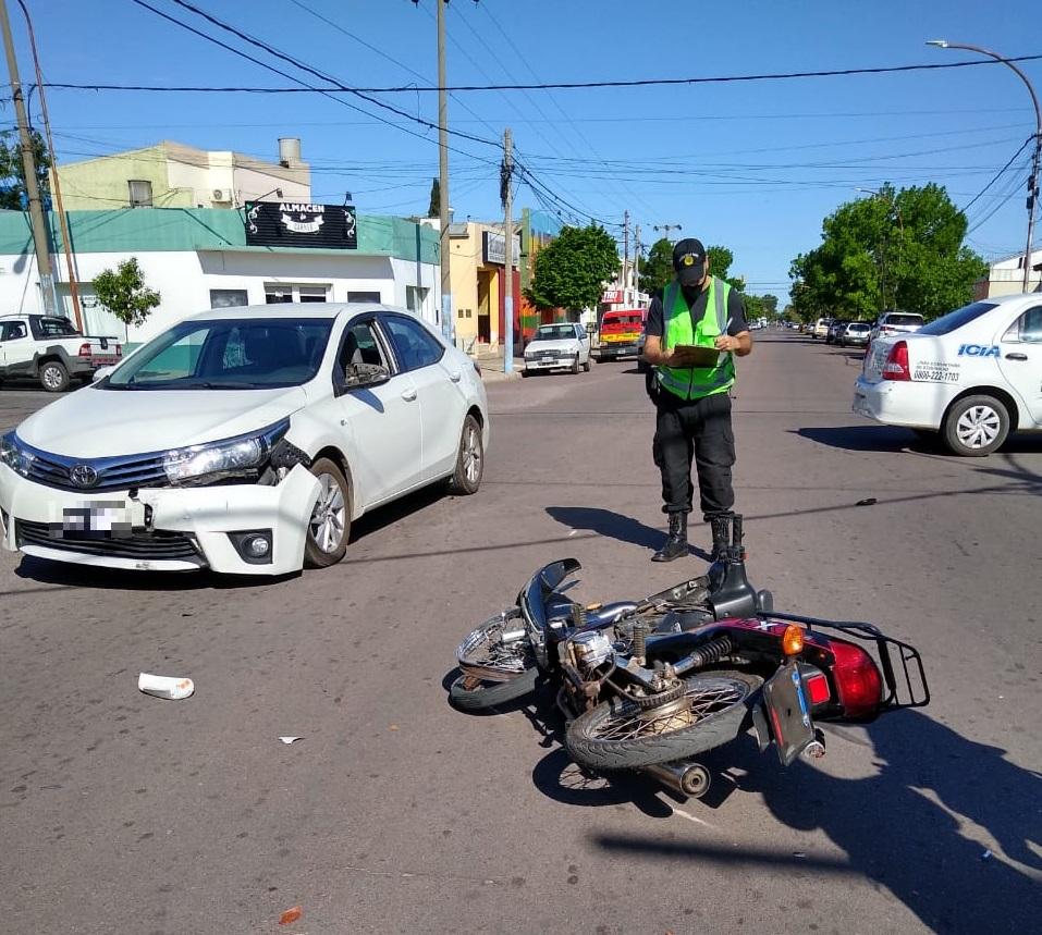 Tarde accidentada en General Pico: Tres choques con hospitalizados en menos de dos horas