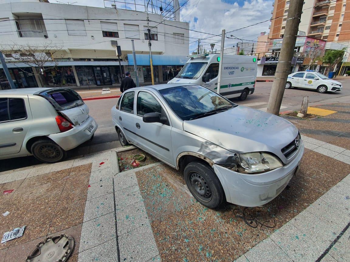 Mañana accidentada: Triple choque en pleno centro de General Pico