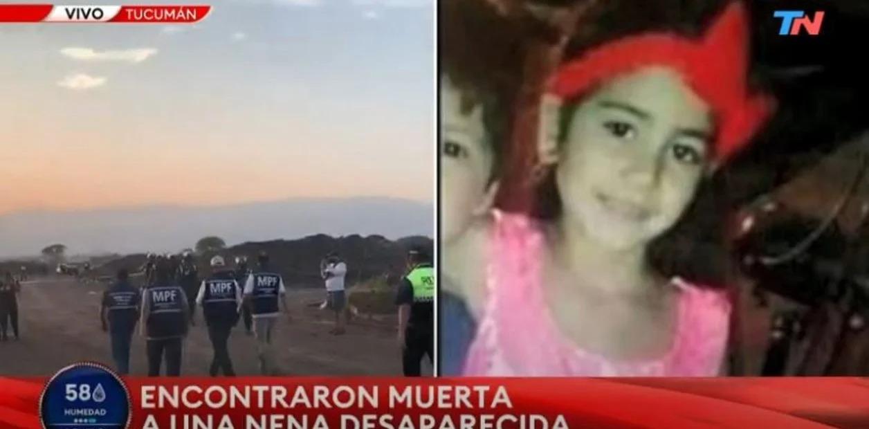 Hallaron muerta a una nena de ocho años en un descampado en Tucumán