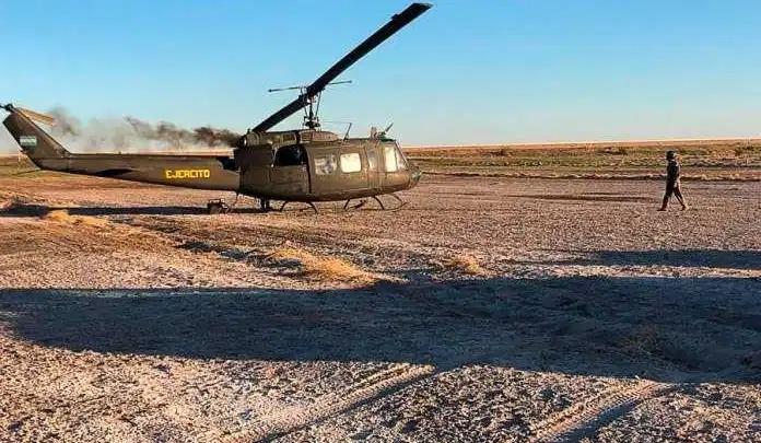 La Pampa: Un helicóptero del Ejército tuvo que aterrizar de emergencia por falta de combustible