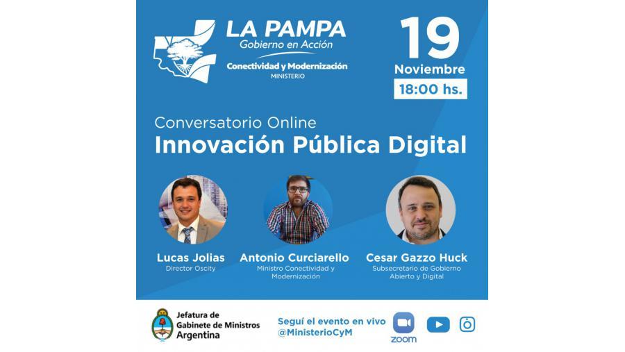 Invitan a participar del conversatorio sobre Innovación Pública Digital en La Pampa