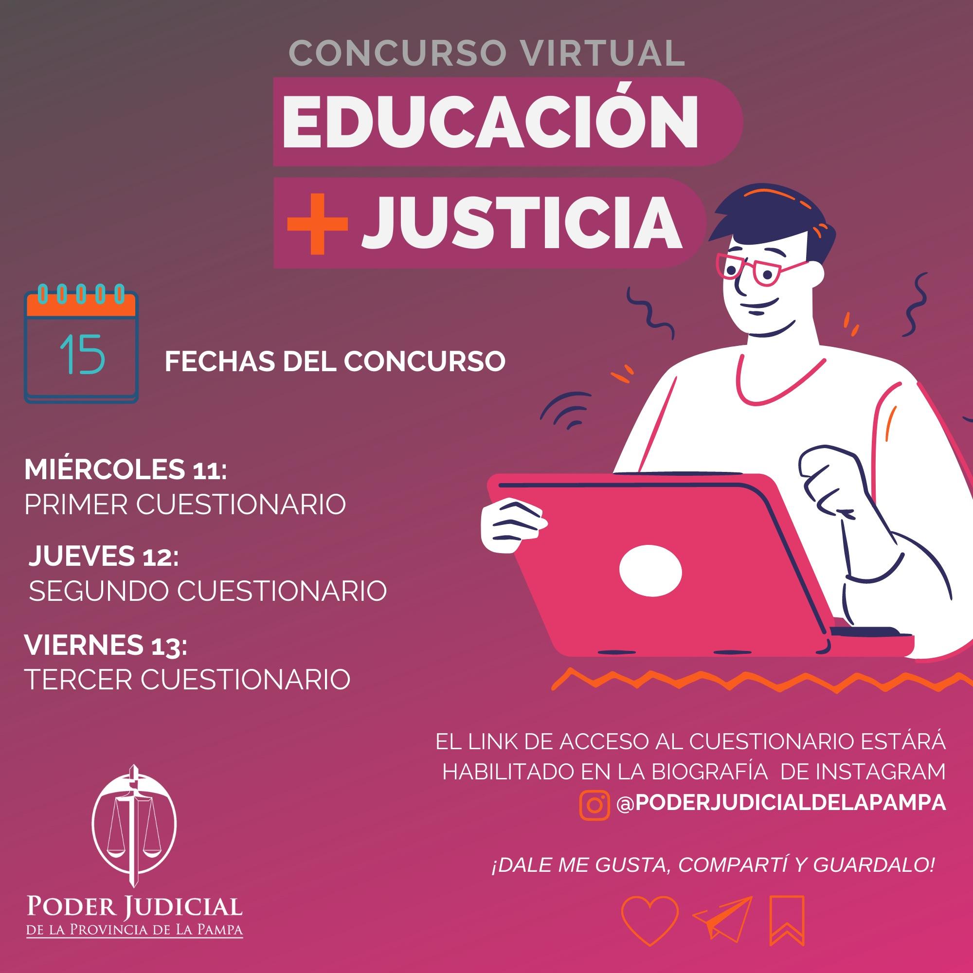 El Poder Judicial de La Pampa lanza un concurso virtual para estudiantes secundarios