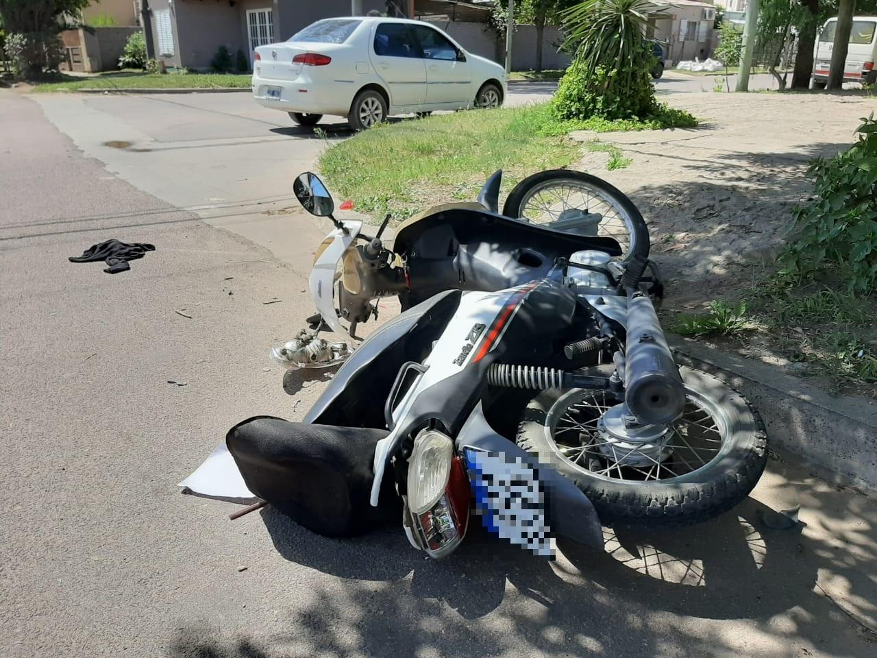 Otros dos accidentes en General Pico: Un hombre y una mujer fueron asistidos por el SEM y trasladados al Hospital