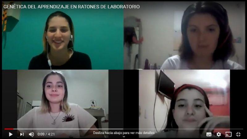 Alumnas de Carlos Paz que se destacaron en La Pampa realizaron un experimento genético que fue premiado en Túnez y España