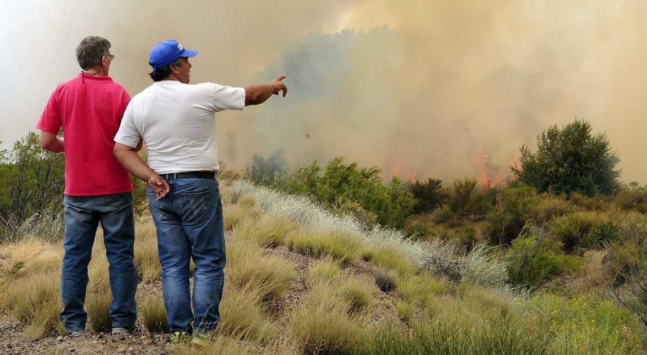La Pampa está dentro de las provincias que mantienen focos activos de incendios forestales