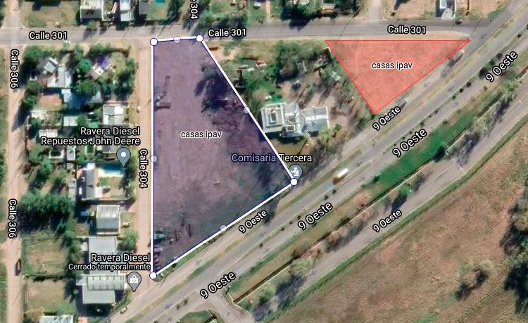 Dos zonas de General Pico que se analizan para la construcción de alrededor de 80 viviendas sociales