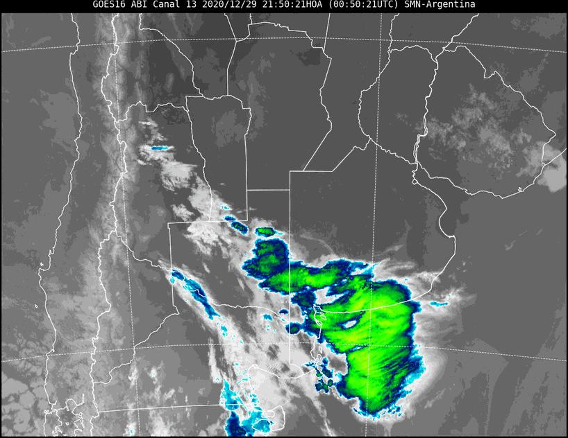 Emiten 3 «Aviso a Corto Plazo» para varias localidades de La Pampa por «tormentas fuertes con rafagas y ocasional caida de granizo»