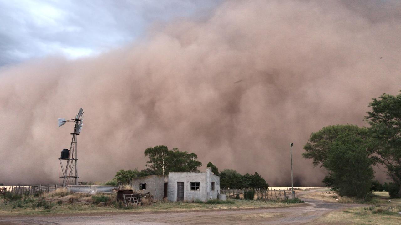 """Biólogo piquense explicó las causas del intenso temporal: """"Los ecos pampeanos del dust bowl"""""""