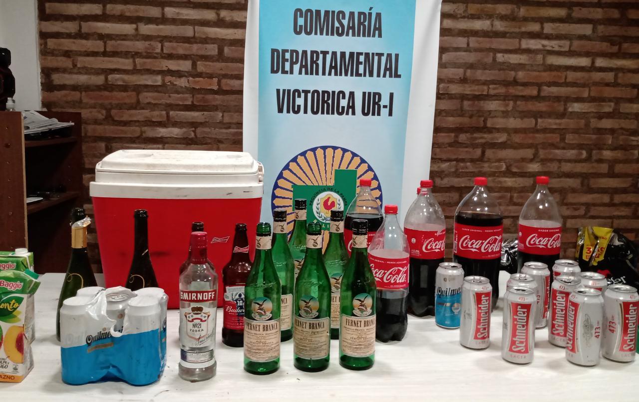 Desbarataron fiesta clandestina en Victorica: Muchas bebidas alcohólicas, notificados y secuestro de vehículos