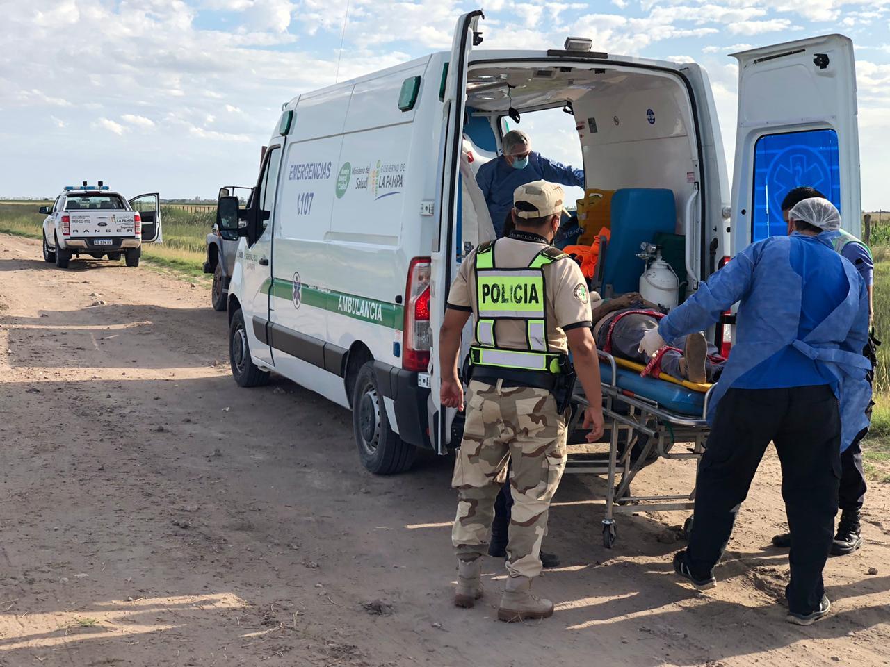 Accidente en ruta provincial 3 camino a La Puma: Una persona fue trasladada al hospital