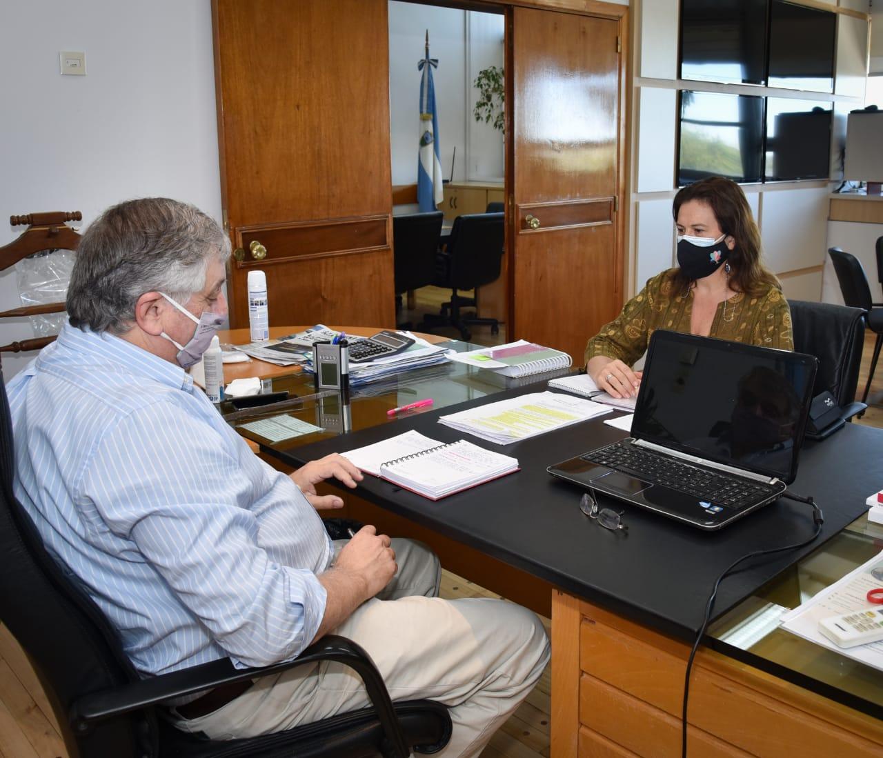 Alonso se reunió con Moralejo por ampliación del Parque Industrial, la ley 2870 de Promoción Económica y la planta de faenas de aves
