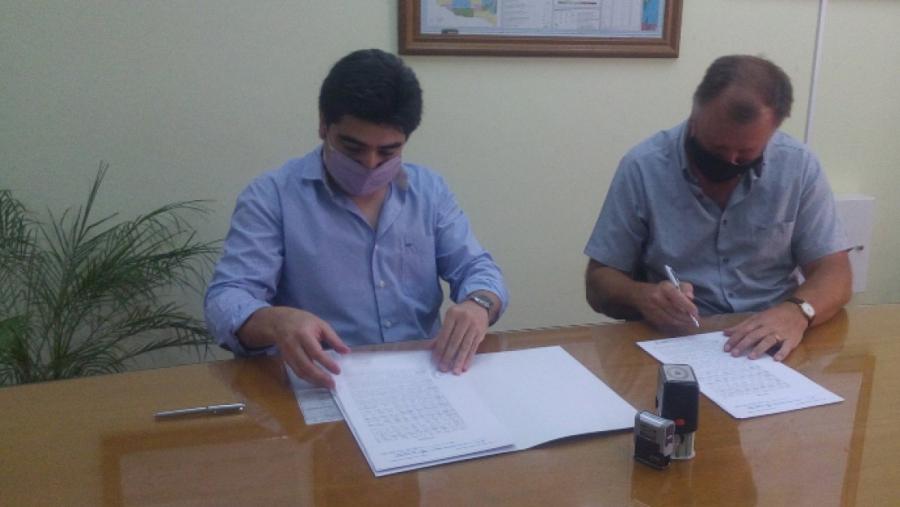 Se firmó un nuevo convenio para obra de desagües pluviales en Macachín