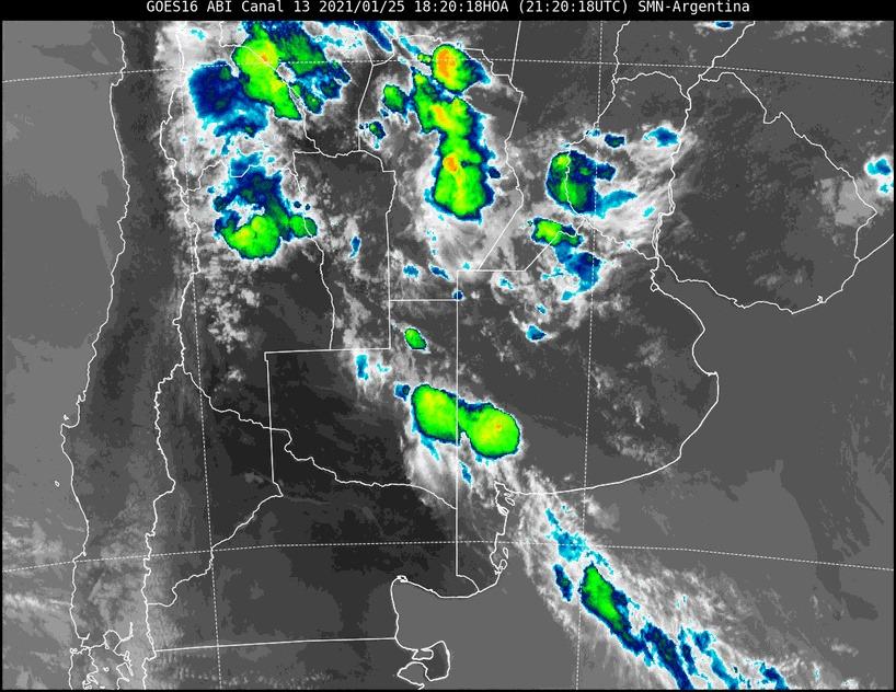 Aviso a corto plazo por tormentas fuertes con ráfagas y ocasional caída de granizo para el centro y este de La Pampa