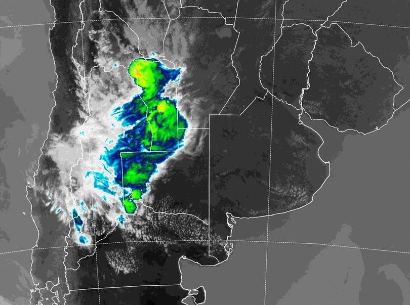 Aviso a corto plazo por tormentas fuertes con lluvias intensas y ráfagas para el oeste de La Pampa