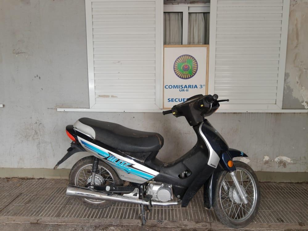 La policía recuperó una moto que había sido robada el fin de semana
